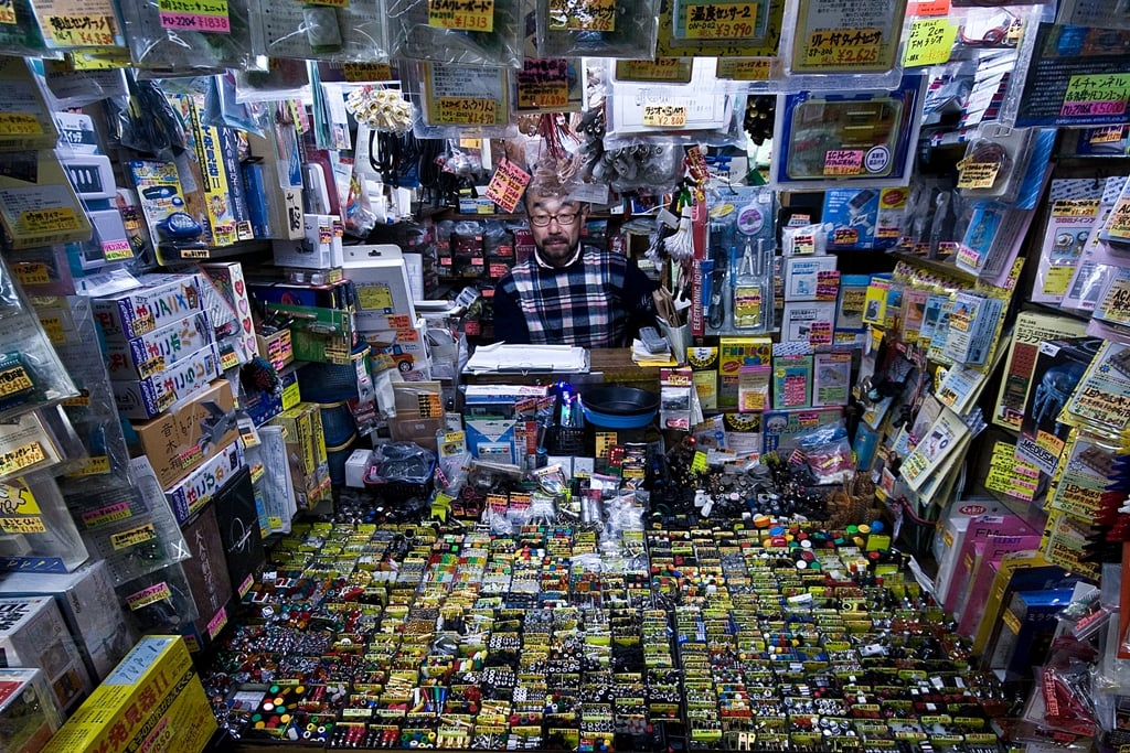 Tiny electronics shop in Akihabara