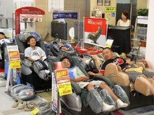 Kids on Massage Chairs