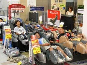Kids on Massage Chairs