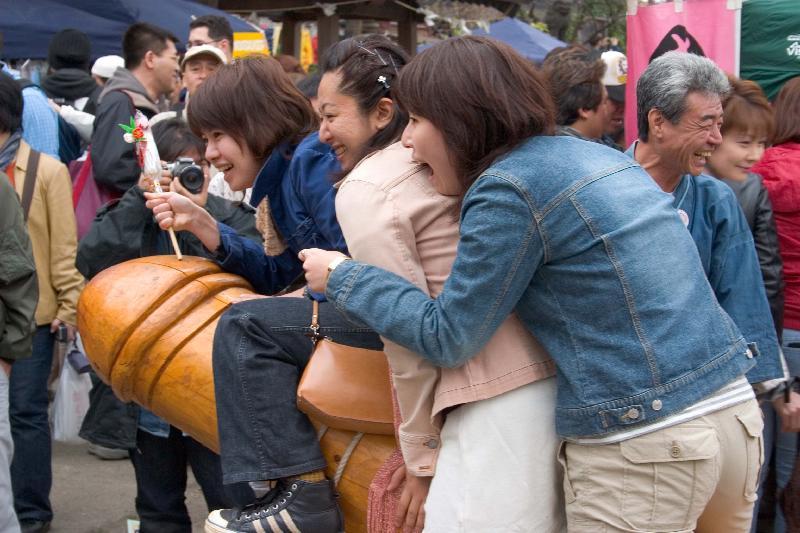 Penis Riders at Kanamara Matsuri