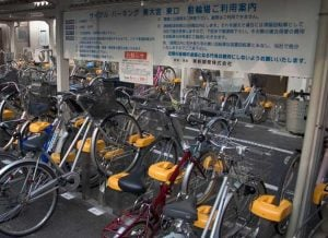 bike parking Japan