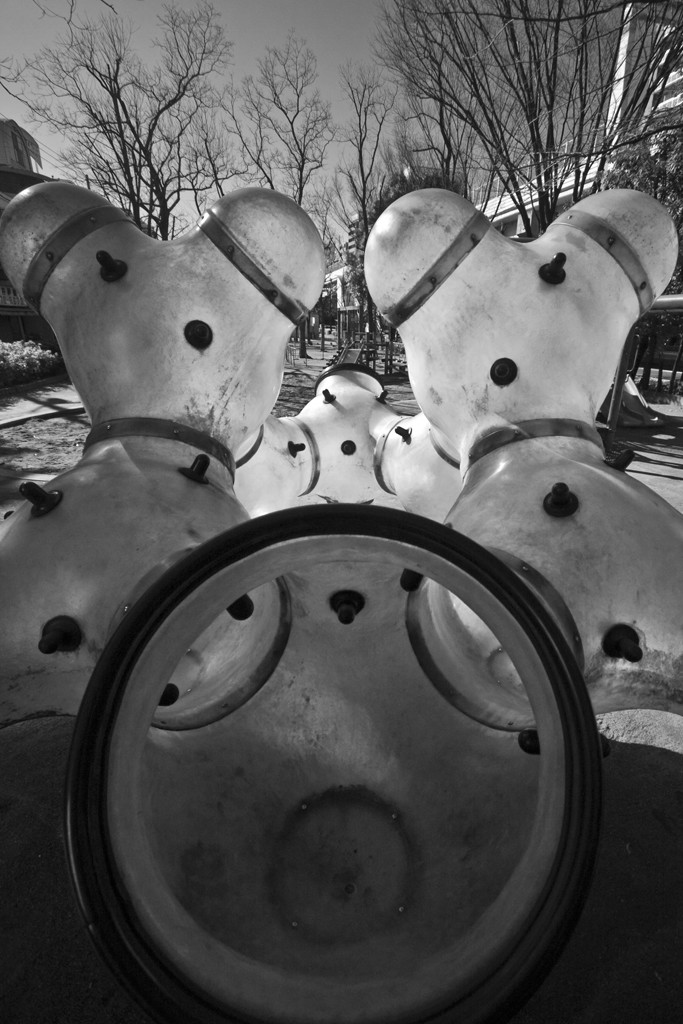 Creepy playground equipment